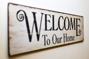 welcome to our home skilt